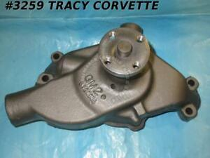 1961 1962 Corvette Rebuilt 3782609 Small Block Water Pump 1 2 In Outlet Undated