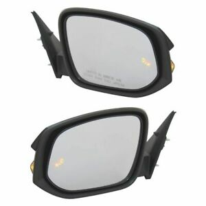 Exterior Power Heated Mirror W Blind Spot Detection Turn Signal Pair For Suv