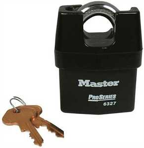 Master Lock 6327eurd 67mm Pro Series Weather Tough Padlock Shrouded Shackle