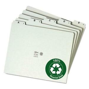 Smead 50376 Recycled Top Tab File Guides Alpha 1 5 Tab Pressboard Letter 25
