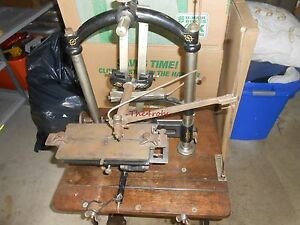Antique Eaton Glover New Century Pantograph Engraving Machine With Dies
