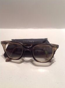 Aden Protective Eyewear Safety Glasses Horn Rim Vtg Style 53 4 W Holder