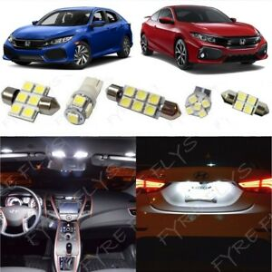 White Led Interior Lights Package Kit For 2016 2018 2019 2020 Honda Civic Tool