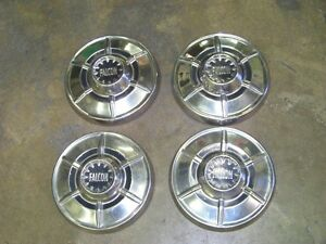 Set 4 1964 65 Ford Falcon Dog Dish Hub Caps Wheel Covers Hubcap Ranchero 64 1965