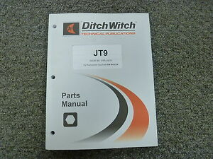 Ditch Witch Model Jt9 Directional Drill Parts Catalog Manual Book