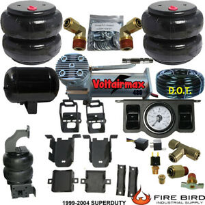 Rear Suspension Air Bag Towing Kit Dc100 Air Management 1999 04 Ford F250 F350
