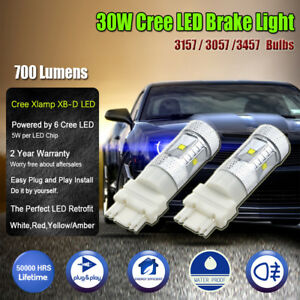 3157 3057 3457 Cree 30w Led Car Brake Stop Lights Replacement Bulbs White Amber