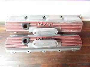Vintage Oldsmobile 330 425 Mickey Thompson Valve Covers With Offy Breathers