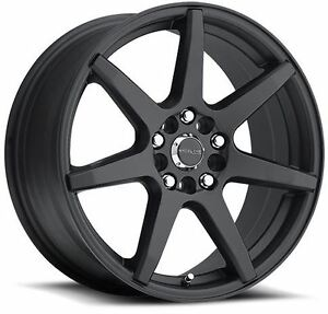 16x7 Raceline 131b Evo 5x112 5x120 Et40 Black Wheels Set Of 4