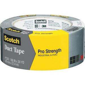 24 scotch 1 88 In X 30 Yd 7 8 Mil Gray Pro Strength Heat Pipe Duct Tape 1230 a