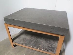 Mojave Granite Plate Surface Inspection Table 36 X 48 X 5 With Stand