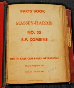 Massey Ferguson Mf 35 60 70 Self Propelled Pull type Combine Part Catalog Manual