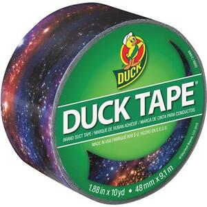 6 Pk Duck Tape 1 88 In X 10 Yd 9 Mil Galaxy Printed Duct Tape 283039
