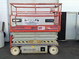 Skyjack Sjiii 3226 26 Scissor Lift Electric Manlift Genie Aerial Cherry Picker