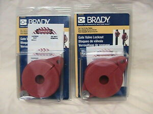 2 New Brady Gate Valve Lockouts 103535