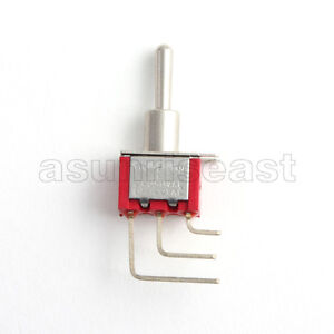 5 Mini Right Angle Toggle Switch Switches Spdt 3 Position On Off On Pcb Mount