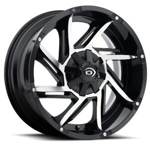 17x9 Vision 422 Prowler 5x139 7 Et12 Gloss Black Machined Face Wheels Set Of 4