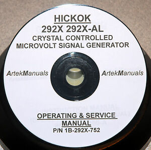 Hickok Manual Operating Service Schematics For 292x Xtal Controlled Generator