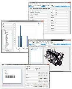 Home Mechanic Shop Auto Engine Body Suspension Part Supply Tracking Software