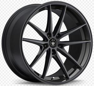 19x8 5 Konig Oversteer 5x114 3 45 Gloss Black Wheels Set Of 4