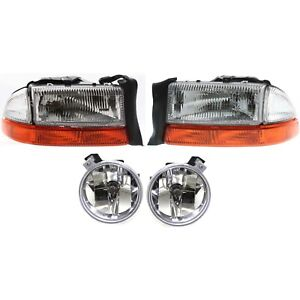 Auto Light Kit Driver Passenger Side Lh Rh For Dodge Dakota Durango 2001 2003