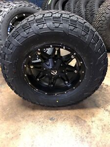 5 17 Fuel D531 Hostage Black Wheels 33 Fuel At Tires Jeep Wrangler Jk Tj