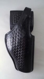 Euc Bianchi 97a Grabber Beretta Police Duty Holster Black Leather Basketweave Rh