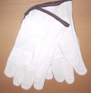 12 Pair Goatskin Leather Driving Gloves Size Large Work Gloves Dozen