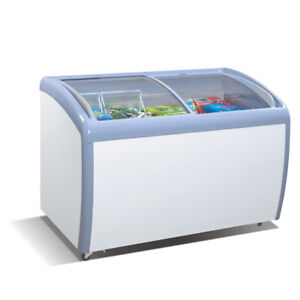 9 Cubic Feet 3 Foot 3 Inch Wide 39 Ice Cream Curved Glass Novelty Chest Freezer