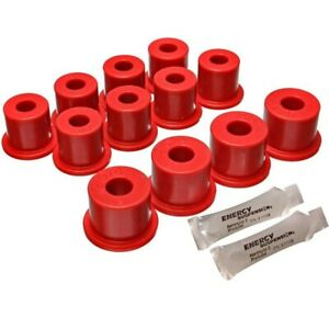 Energy Susp New Leaf Spring Bushings 2 Spring And Shackle Set Front
