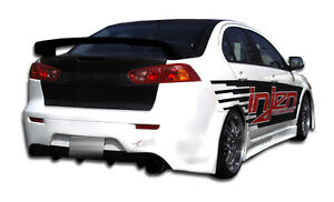 08 15 Mitsubishi Lancer Duraflex Gt Concept Rear Bumper 1pc Body Kit 103944