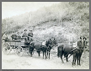 Dakota Wells Fargo Express Horse Wagon Rifles Guns 24 X18 John Grabill 1890