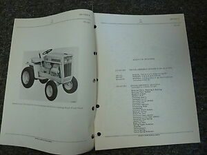 International Harvester Ih Model 102 Cub Cadet Tractor Parts Catalog Manual Book
