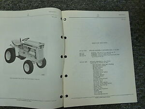 International Harvester Ih Model 105 Cub Cadet Tractor Parts Catalog Manual Book
