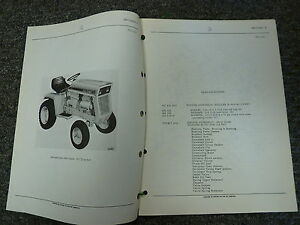 International Harvester Ih Model 107 Cub Cadet Tractor Parts Catalog Manual Book