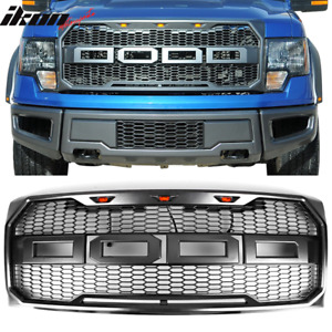 Fits 09 14 Ford F150 New Raptor Style Front Bumper Grille Hood Mesh Package Abs
