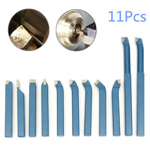 11x 12mm 1 2 Mini Metal Lathe Cutting Turning Boring Bit Tool Set Carbide Tip