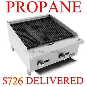 24 Inch 2 Foot Wide Radiant Char Broiler Propane Lp Table Top Grill Food Truck