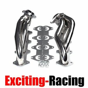 Exhaust Manifold Header Shorty Stainless Steel For Ford F150 04 10 5 4l V8