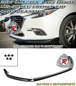 Ms Style Front Lip Abs Plastic Fits 17 18 Mazda 3 4 5dr