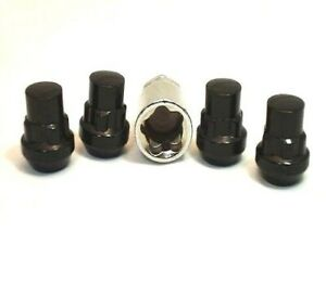 4 Pc Honda S2000 Black Locking Lug Nuts Custom Wheel Locks Ap 20705bk