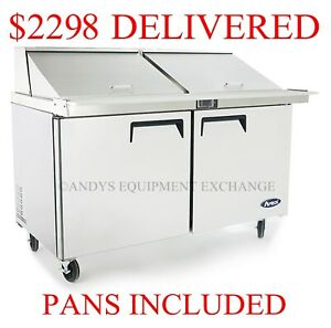 2 door Commercial Restaurant Megatop Sandwich Salad Prep Table 60 5 Foot Wide