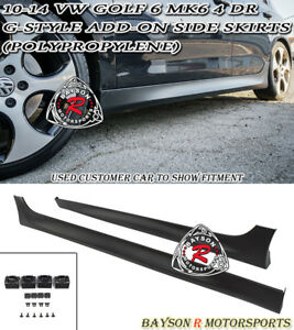 G style Add on Side Skirts pp Fits 10 14 Vw Mk6 Golf 6 Gti