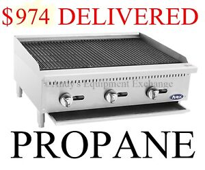 36 Inch 3 Foot Wide Radiant Char Broiler Propane Lp Gas Table Top food Truck