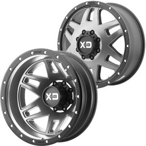 Set Of 6 Xd130 Machete Dually 20x8 25 8x6 5 Gray Wheels Rims Lugs Included