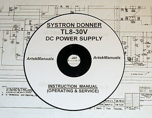 Systron Donner Tl8 30v Power Supply Operating Service Manual Schematics
