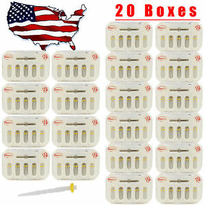 200 Pcs Dental Screw Thread Fiber Post Glass Resin 1 4mm W Drills Yellow Usa