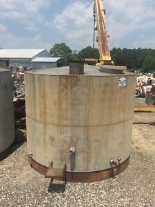 12547 001 Used Approximately 6 000 Gallon Stainless Steel Vertical Tank