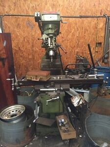 Used Conventional Knee Mill Millman 50 X 10 Table X axis Power Feed Bridgeport