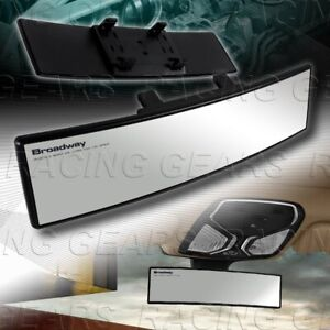 Clear Broadway 270mm Wide Convex Interior Clip On Rear View Mirror Universal 5